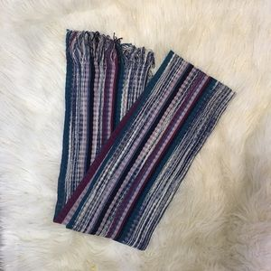 Missoni navy/multicolored wool knit scarf 😍